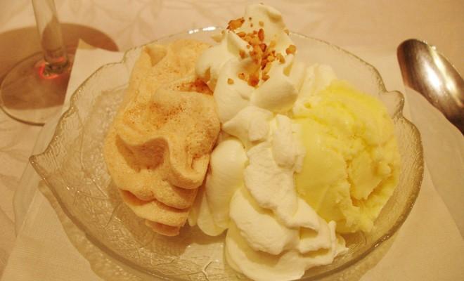 meringue,crème,dessert,glace,recette