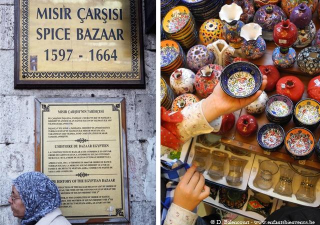 istanbul, voyage, pas cher, turquie, marché, épices, bazaar