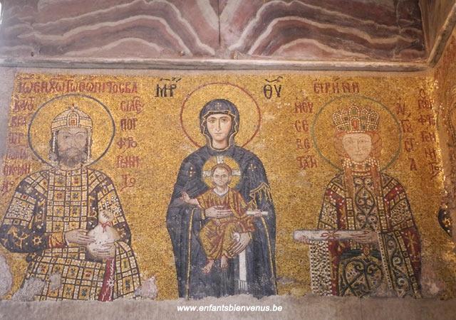 istanbul, voyage, pas cher, turquie, sainte-sophie, musée, mosaiques, christ, art byzantin
